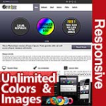 Persephone Blue Grey - Unlimited Colors, Images, Layouts - 5 Free Modules - Responsive Skin Mobile
